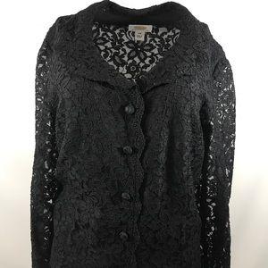 Talbots lace blazer plus size